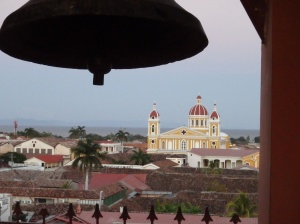 The view of the cathedral from the bell tower at Iglesia La Merced