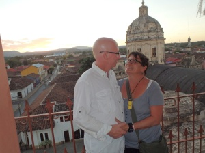 A romantic spot above the city with Merced's dome behind