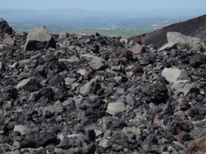 More a pile of volcanic rubble than a path